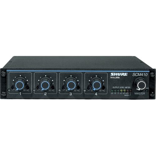 shure scm410 4 channel automatic mixer scm410 b h photo video. Black Bedroom Furniture Sets. Home Design Ideas