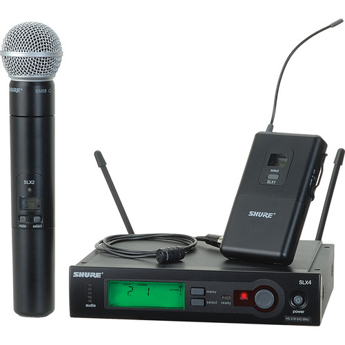 Shure SLX124/85/SM58 Wireless Combo Microphone System (G5: 494 to 518 MHz)