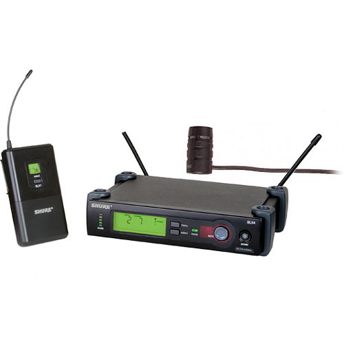Shure SLX14/84 Wireless Supercardioid Lavalier Microphone System (G4: 470 to 494 MHz)