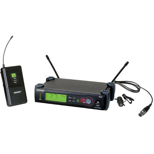 Shure SLX14/85 Wireless Cardioid Lavalier Microphone System (G4: 470 to 494 MHz)
