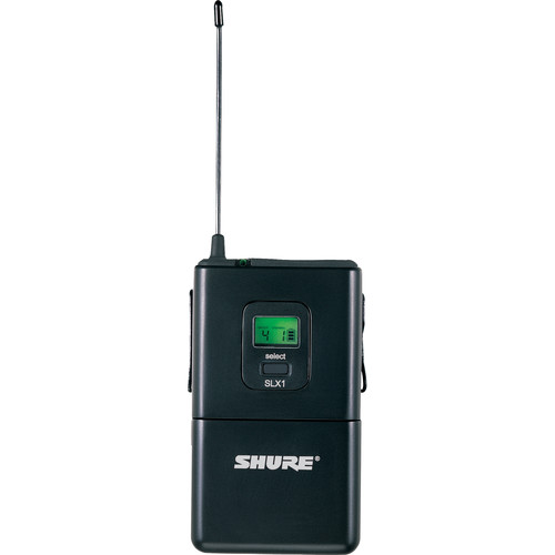 Shure SLX1 Bodypack Transmitter for Shure SLX Series Wireless System (J3/572 - 596 MHz)