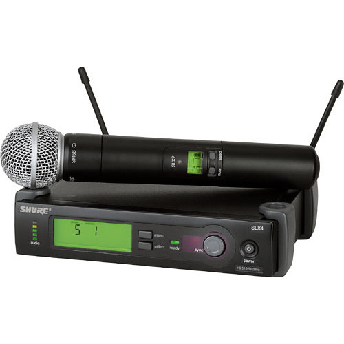 Shure SLX24/BETA58 Wireless Handheld Microphone System with Beta 58A Capsule (G5: 494 to 518 MHz)