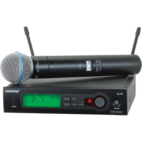 Shure SLX Series Wireless Microphone System (H5: 518 - 542 MHz)