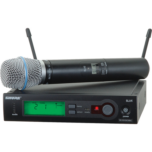 shure slx series wireless microphone system slx24 beta87a h5 b h. Black Bedroom Furniture Sets. Home Design Ideas