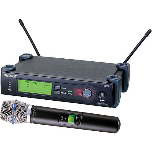 Shure SLX24/BETA87C Wireless Handheld Microphone System with Beta 87C Capsule (G4: 470 to 494 MHz)