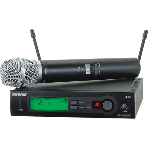 Shure SLX24/SM86 Wireless Handheld Microphone System with SM86 Capsule (H5: 518 to 542 MHz)