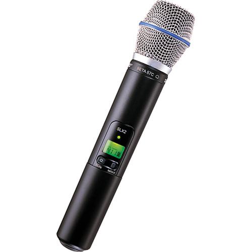Shure SLX2/BETA87C Handheld Wireless Microphone Transmitter with Beta 87C Capsule (G5: 494 to 518 MHz)