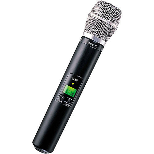 Shure SLX2/SM86 Handheld Wireless Microphone Transmitter with SM86 Capsule (G4: 470 to 494 MHz)