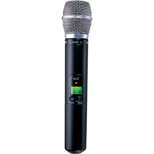 Shure SLX2/SM86 Handheld Wireless Microphone Transmitter with SM86 Capsule (H5: 518 to 542 MHz)