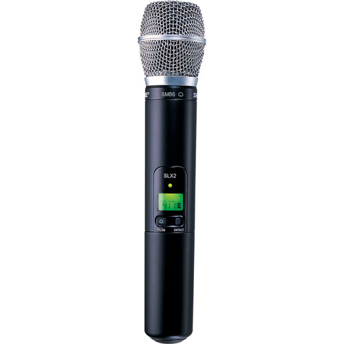 Shure SLX2/SM86 Handheld Wireless Microphone Transmitter with SM86 Capsule (J3: 572 to 596 MHz)
