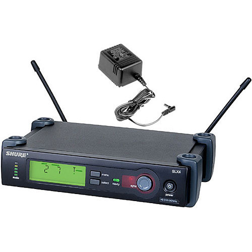 Shure SLX4 Diversity UHF Wireless Microphone Receiver (G4: 470 to 494 MHz)