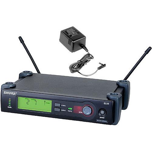 Shure SLX4 Diversity UHF Wireless Microphone Receiver (G5: 494 to 518 MHz)