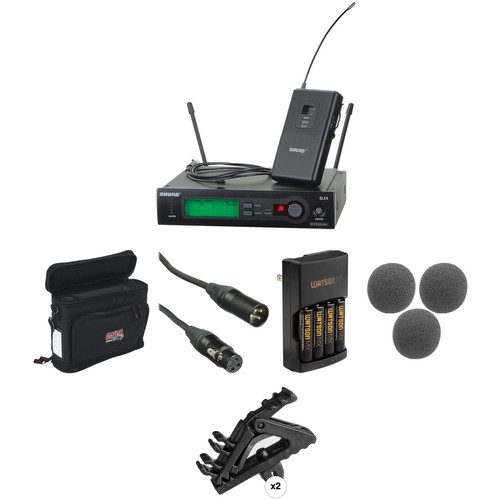 Shure SLX Series Basic Wireless Lavalier Microphone Kit (J3: 572 - 596 MHz)