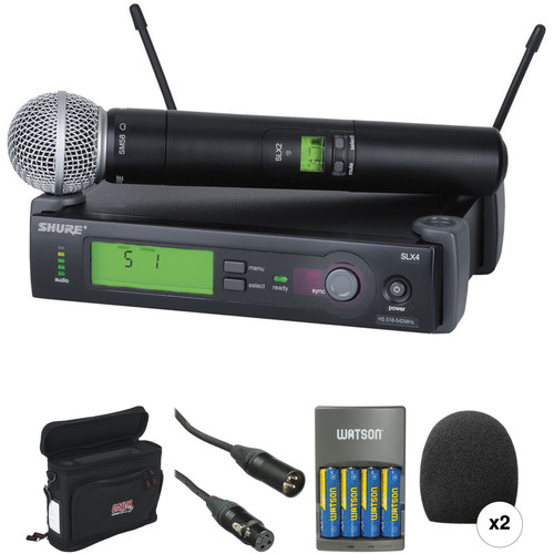 Shure SLX Series Basic Wireless Handheld Microphone Kit (J3: 572 - 596 MHz)