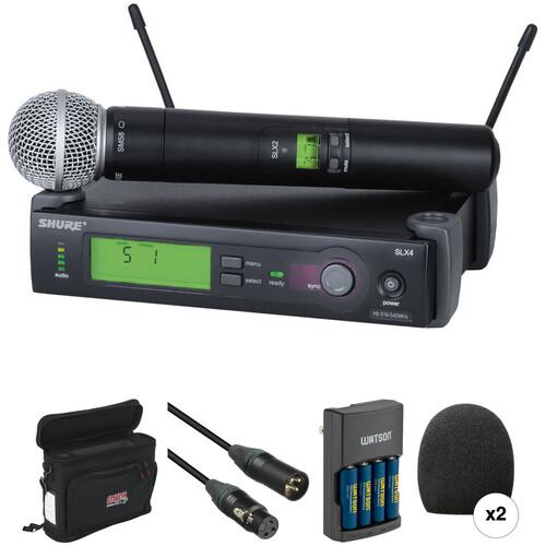 Shure SLX Series Basic Wireless Handheld Microphone Kit (J3: 572 - 596 MHz)