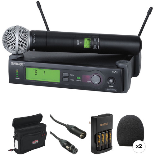Shure SLX Series Basic Wireless Handheld Microphone Kit (H5: 518 - 542 MHz)