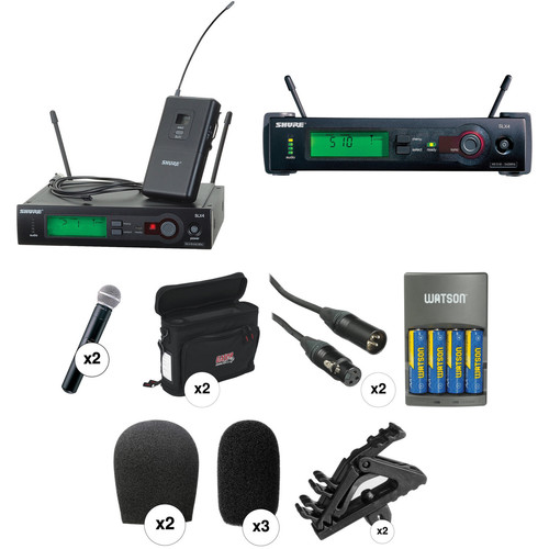Shure SLX Series Dual Wireless Lavalier and Handheld Microphone Combo Kit (H5: 518 - 542 MHz)