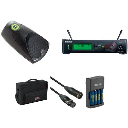 shure slx wireless boundary microphone system kit b h photo. Black Bedroom Furniture Sets. Home Design Ideas