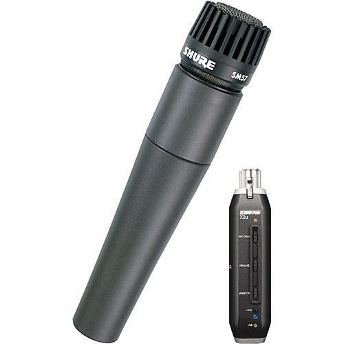 Shure X2u XLR to USB Microphone Signal Adapter and SM57 Microphone Bundle