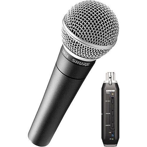 Shure X2u XLR to USB Microphone Signal Adapter and SM58 Microphone Bundle