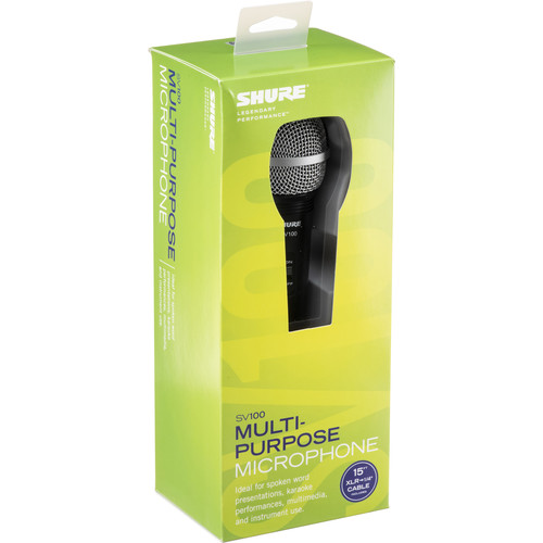 Shure SV100-WA Handheld Cardioid Dynamic Microphone with Accessories