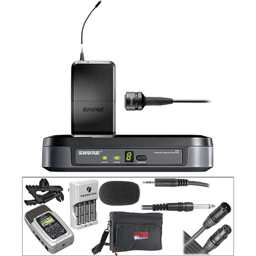 shure shure wireless mic zoom h2 portable recorder kit. Black Bedroom Furniture Sets. Home Design Ideas