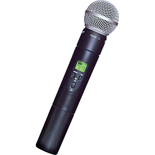 Shure ULX2/58 UHF Handheld Transmitter with SM58 Microphone Head (J1: 554 to 590 MHz)