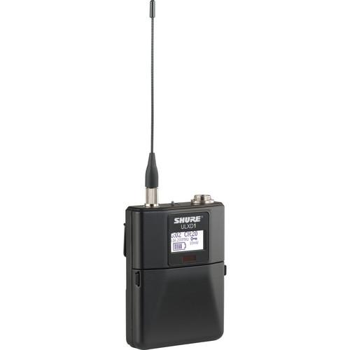 Shure ULXD1 Digital Wireless Bodypack Transmitter with TA4M (G50: 470 to 534 MHz)
