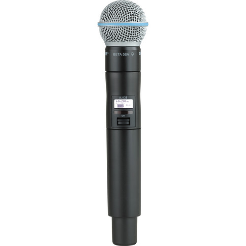 Shure ULXD2/B58 Digital Handheld Wireless Microphone Transmitter with Beta 58A Capsule (G50: 470 to 534 MHz)