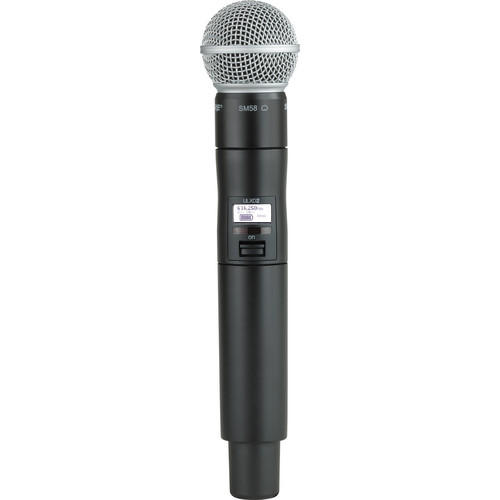 Shure ULXD2 Handheld Transmitter with SM58 Microphone Capsule (J50)