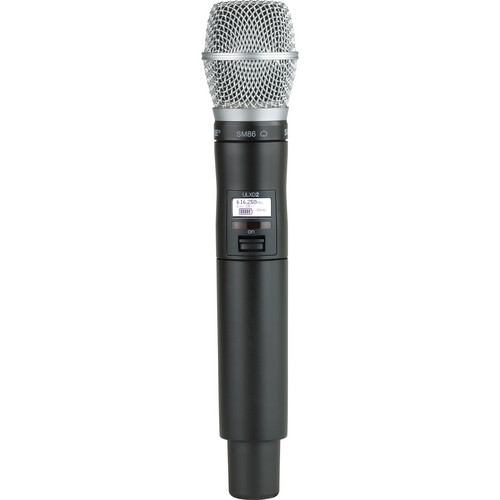 Shure ULXD2 Handheld Transmitter with SM86 Microphone Capsule (G50)