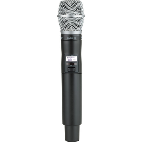 Shure ULXD2 Handheld Transmitter with SM86 Microphone Capsule (J50)