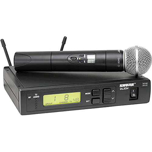 Shure ULXS24/58 Wireless Handheld Microphone System with SM58 Capsule (G3: 470 to 506 MHz)