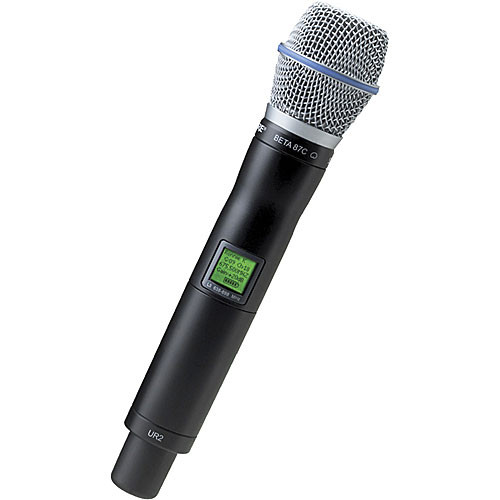Shure UR2 Handheld Wireless Microphone Transmitter with Beta 87C