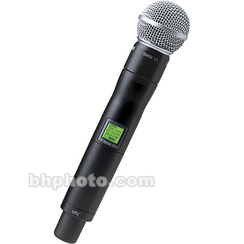 Shure UR2 Handheld Wireless Microphone Transmitter with SM58 Capsule (J5: 578-638 MHz)