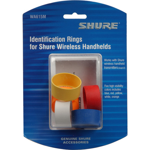Shure Multi-Colored Handheld Transmitter ID Rings