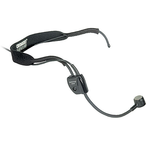 "Shure WH20 Headset Mic with 1/4"" Phone Connector for Unbalanced Mic Output"