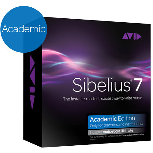 Sibelius 7 Academic plus AudioScore Ultimate - Software Bundle (Educational Institution Discount)