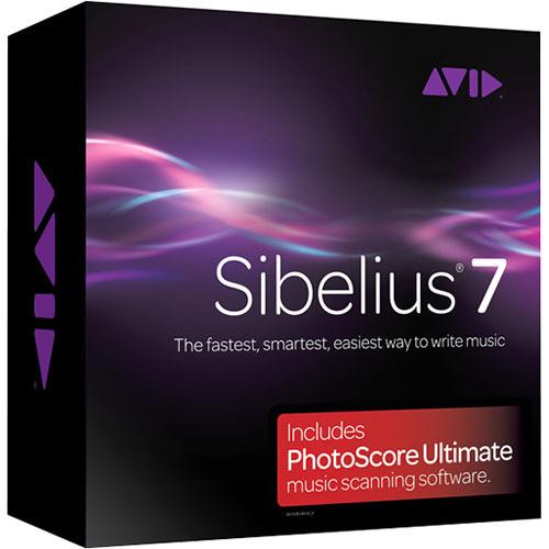 Sibelius Sibelius 7 plus PhotoScore Ultimate - Music Notation and Scanning Software Bundle
