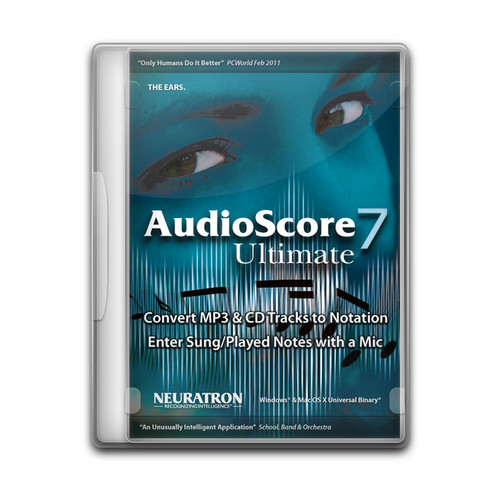 Sibelius AudioScore Ultimate 7 - Polyphonic Music Recognition and Transcription Software