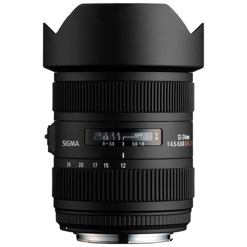 Sigma 12-24mm f/4.5-5.6 DG HSM II Lens (For Canon)