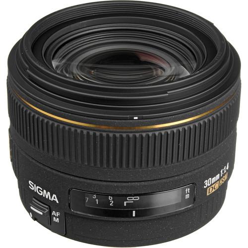 Sigma 30mm f/1.4 EX DC HSM Autofocus Lens for Canon Digital