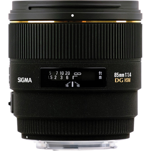 Sigma 85mm f/1.4 EX DG HSM Lens For Nikon Digital SLR Cameras