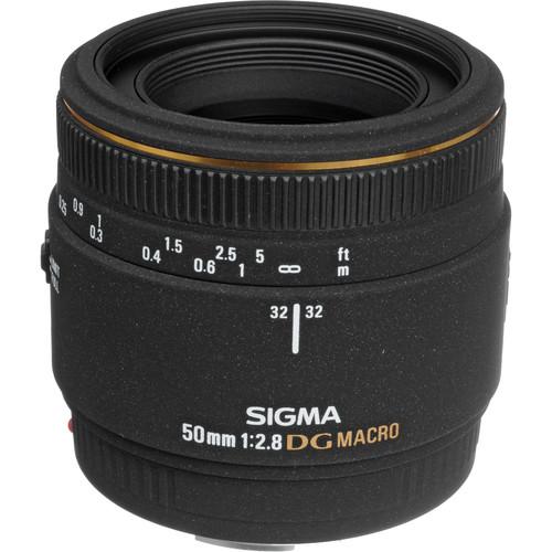 Sigma Normal 50mm f/2.8 EX DG Macro Autofocus Lens for Canon EOS