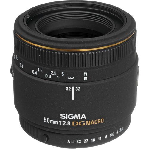 Sigma 50mm f/2.8 EX DG Macro Autofocus Lens for Pentax AF