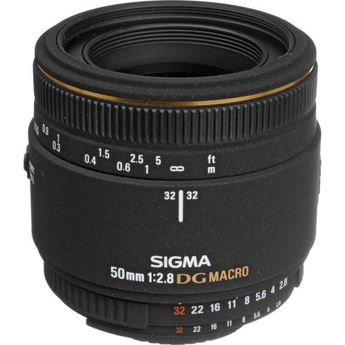 Sigma 50mm f/2.8 EX DG Macro Autofocus Lens for Nikon AF