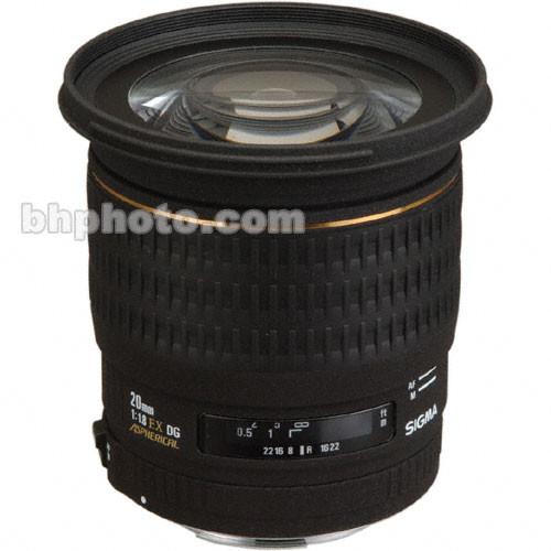 Sigma Super Wide Angle 20mm f/1.8 (D) EX Aspherical DG DF RF Autofocus Lens  for Sony Alpha & Minolta Maxxum Series