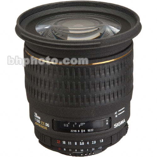 Sigma Super Wide Angle 20mm f/1.8 EX Aspherical DG DF RF Autofocus Lens for Nikon AF-D