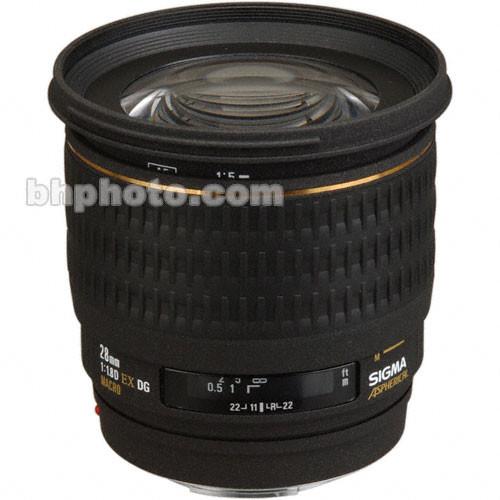 Sigma Wide Angle 28mm f/1.8 EX Aspherical DG DF Macro Autofocus Lens for Canon EOS