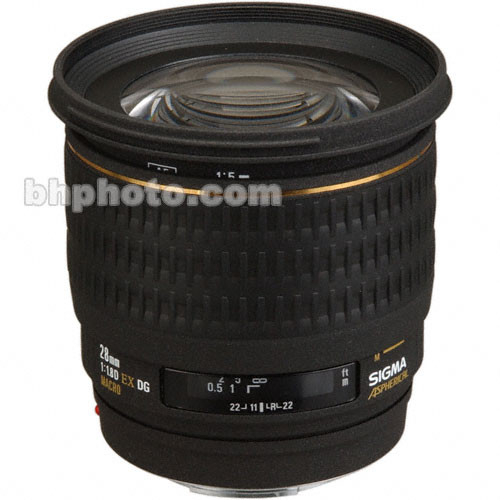 Sigma W/A 28mm f/1.8 EX Aspherical DG DF Macro AF Lens for Pentax